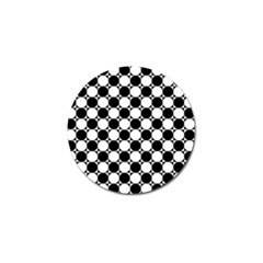 Black And White Polka Dots Golf Ball Marker by ElenaIndolfiStyle