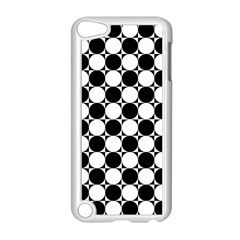 Black And White Polka Dots Apple Ipod Touch 5 Case (white) by ElenaIndolfiStyle