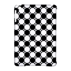 Black And White Polka Dots Apple Ipad Mini Hardshell Case (compatible With Smart Cover) by ElenaIndolfiStyle