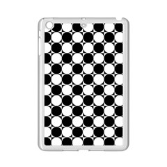Black And White Polka Dots Apple Ipad Mini 2 Case (white) by ElenaIndolfiStyle