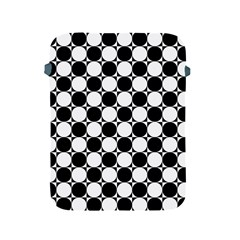 Black And White Polka Dots Apple Ipad Protective Sleeve by ElenaIndolfiStyle