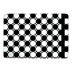 Black And White Polka Dots Samsung Galaxy Tab Pro 10 1  Flip Case by ElenaIndolfiStyle