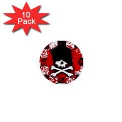 Emo Skull 1  Mini Button (10 Pack) by ArtistRoseanneJones