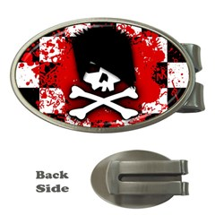 Emo Skull Money Clip (oval) by ArtistRoseanneJones