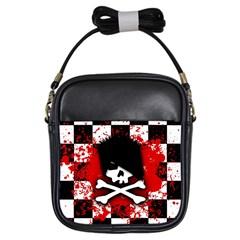 Emo Skull Girl s Sling Bag by ArtistRoseanneJones