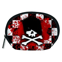 Emo Skull Accessory Pouch (medium) by ArtistRoseanneJones