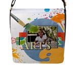 school - Flap Closure Messenger Bag (L)