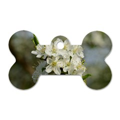 Spring Flowers Dog Tag Bone (one Sided) by anstey