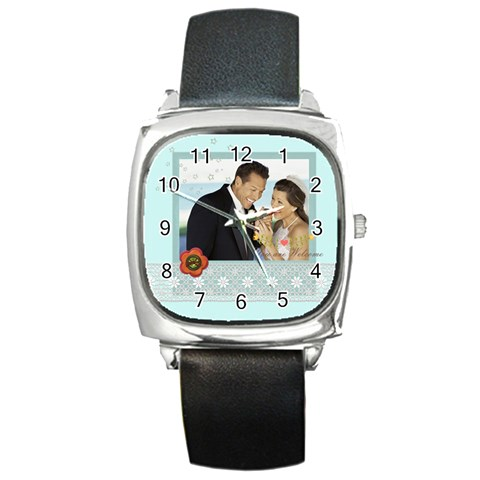 Wedding By Wedding   Square Metal Watch   X9cvu86gt602   Www Artscow Com Front