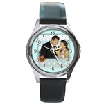 wedding - Round Metal Watch