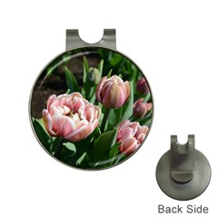 Tulips Hat Clip With Golf Ball Marker by anstey