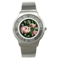 Tulips Stainless Steel Watch (slim) by anstey