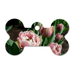Tulips Dog Tag Bone (two Sided) by anstey