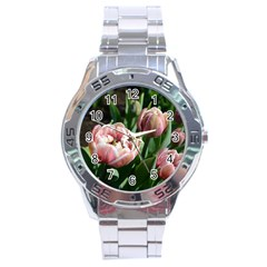 Tulips Stainless Steel Watch by anstey