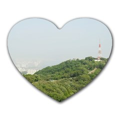 Seoul Mouse Pad (heart) by anstey