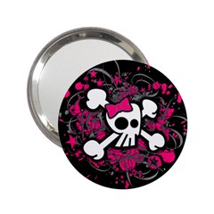 Girly Skull And Crossbones Handbag Mirror (2 25 )