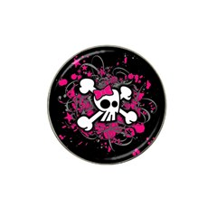 Girly Skull And Crossbones Golf Ball Marker 4 Pack (for Hat Clip)