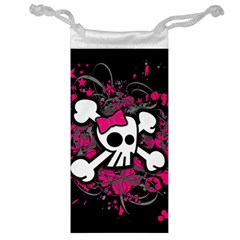 Girly Skull And Crossbones Jewelry Bag