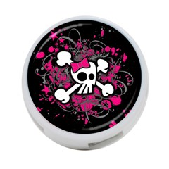 Girly Skull And Crossbones 4 Port Usb Hub (two Sides)