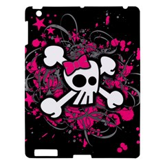 Girly Skull And Crossbones Apple Ipad 3/4 Hardshell Case by ArtistRoseanneJones