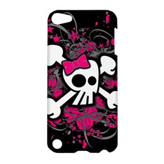 Girly Skull And Crossbones Apple Ipod Touch 5 Hardshell Case by ArtistRoseanneJones