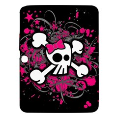 Girly Skull And Crossbones Samsung Galaxy Tab 3 (10.1 ) P5200 Hardshell Case  by ArtistRoseanneJones