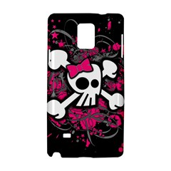 Girly Skull And Crossbones Samsung Galaxy Note 4 Hardshell Case