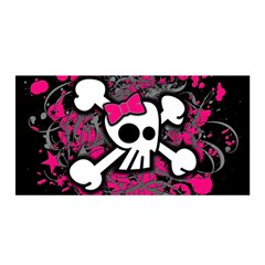 Girly Skull And Crossbones Satin Wrap by ArtistRoseanneJones