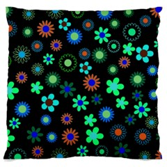 Floral Large Cushion Case (two Sided)  by giftgivingideas