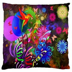 Hummingbird Floral  Large Cushion Case (two Sided)  by giftgivingideas