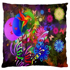 Hummingbird Floral  Standard Flano Cushion Case (two Sides) by giftgivingideas