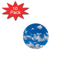 Bright Blue Sky 1  Mini Button Magnet (10 Pack) by ansteybeta