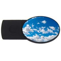 Bright Blue Sky 2gb Usb Flash Drive (oval) by ansteybeta