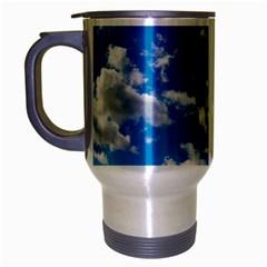 Bright Blue Sky Travel Mug (silver Gray) by ansteybeta