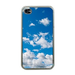 Bright Blue Sky Apple Iphone 4 Case (clear) by ansteybeta