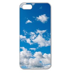 Bright Blue Sky Apple Seamless Iphone 5 Case (clear) by ansteybeta