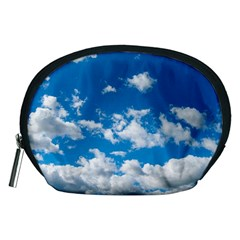 Bright Blue Sky Accessory Pouch (medium) by ansteybeta