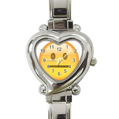 Neutral Face  Heart Italian Charm Watch  by Bauble