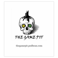 The Game Pit Podcast By Sean   Drawstring Pouch (large)   2l3jylub4cei   Www Artscow Com Back