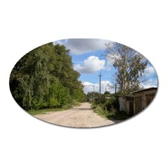 Dusty Road Magnet (oval) by ansteybeta