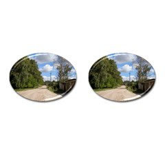 Dusty Road Cufflinks (oval) by ansteybeta