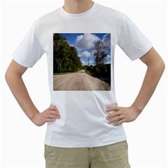 Dusty Road Men s T-Shirt (White)  by ansteybeta