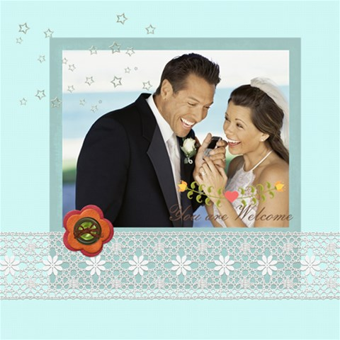 Wedding By Wedding   Scrapbook Page 12  X 12    75a0w8tcdzr4   Www Artscow Com 12 x12 Scrapbook Page - 1