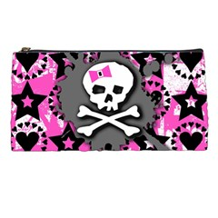 Pink Bow Skull Pencil Case