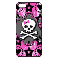 Pink Bow Skull Apple Iphone 5 Seamless Case (black) by ArtistRoseanneJones