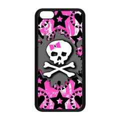 Pink Bow Skull Apple Iphone 5c Seamless Case (black) by ArtistRoseanneJones