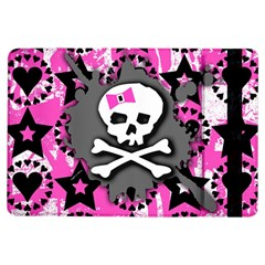 Pink Bow Skull Apple iPad Air Flip Case by ArtistRoseanneJones