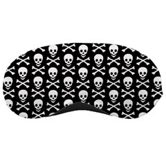 Skull and Crossbones Pattern Sleeping Mask by ArtistRoseanneJones
