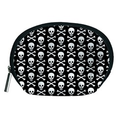 Skull And Crossbones Pattern Accessory Pouch (medium) by ArtistRoseanneJones