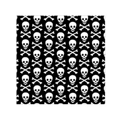 Skull And Crossbones Pattern Small Satin Scarf (square)